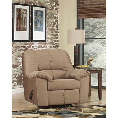 Flash Furniture – Fauteuil berçant inclinable signé Ashley Dominator en tissu moka (8799RECMOC)