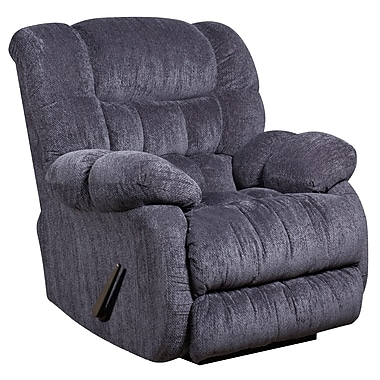 Flash Furniture – Fauteuil berçant inclinable contemporain Columbia en microfibres, bleu indigo (AM94605861)