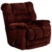 Flash Furniture Contemporary Temptation Microfiber Rocker Recliner, Merlot (AM95606451)