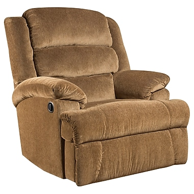Flash Furniture Big and Tall 350lb-Capacity Aynsley Microfiber Recliner, Amber (AM99607920)