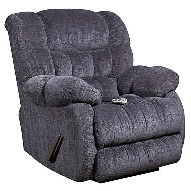 Flash Furniture – Fauteuil de massage inclinable et chauffant Columbia en tissu de microfibres bleu indigo (AMH94605861)