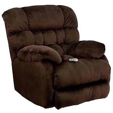 Flash Furniture – Fauteuil de massage inclinable et chauffant Sharpei en tissu de microfibres chocolat (AMH94605980)