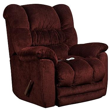 Flash Furniture – Fauteuil de massage inclinable et chauffant Temptation en tissu de microfibres merlot (AMH95606451)