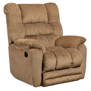 Flash Furniture Contemporary Temptation Fawn Microfiber Power Recliner with Push Button (AMP95606450)
