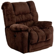 Flash Furniture Contemporary Temptation Microfiber Power Recliner with Push Button, Mahogany (AMP95606452)