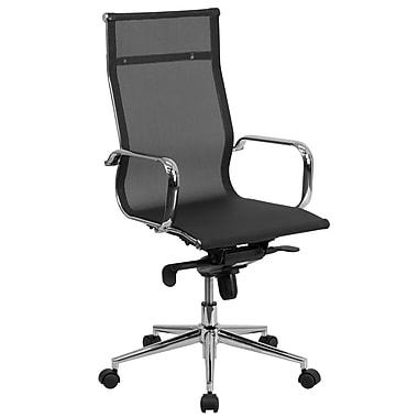 Flash Furniture – Fauteuil de direction pivotant à dossier haut, synchronisation siège/dossier, filet noir (BT2768H)