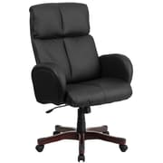 Flash Furniture BT9028H1 High-Back Black Leather Executive Swivel Office Chair, Fully Upholstered Arms