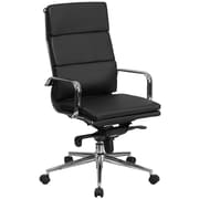 Flash Furniture High-Back Leather Executive Swivel Office Chair with Synchro-Tilt Mechanism, Black (BT9895H6BK)
