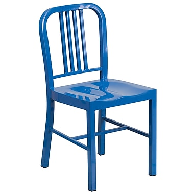 Flash Furniture Metal Indoor/Outdoor Chair, Blue (CH3120018BL)
