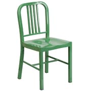 Flash Furniture Metal Indoor-Outdoor Chair, Green Powder Coat Finish, 2/Box (CH3120018GN)