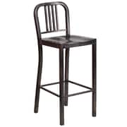 Flash Furniture 30'' High Metal Indoor-Outdoor Barstool, Black-Antique Gold Powder Coat Finish, 2/Box (CH3120030BQ)