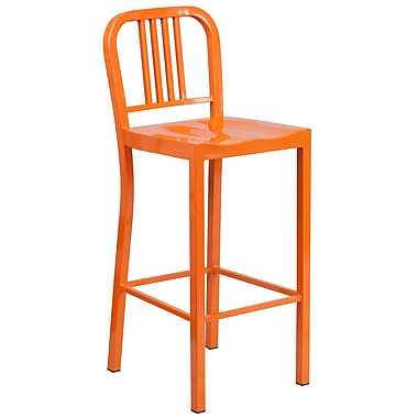Flash Furniture 30''H Indoor/Outdoor Barstool, Orange Metal (CH3120030OR)