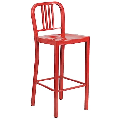 Flash Furniture 30'' High Metal Indoor/Outdoor Barstool, Red (CH3120030RED)