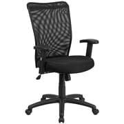 Flash Furniture CY54ABKA High-Back Mesh Executive Ergonomic Swivel Office Chair with Arms, Black