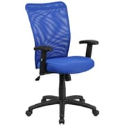 Flash Furniture CY54ABLA High-Back Blue Mesh Executive Ergonomic Swivel Office Chair with Arms