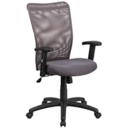 Flash Furniture Mesh Executive Office Chair, Fixed Arms, Gray/Silver (CY54AGYA)