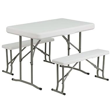 Flash Furniture – Table et bancs pliants en plastique (DADYCZ103)