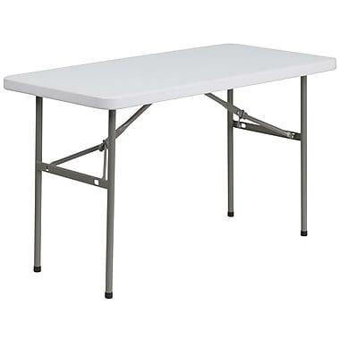 Flash Furniture – Table pliante de 24 x 48 po en plastique blanc (DADYCZ1222)