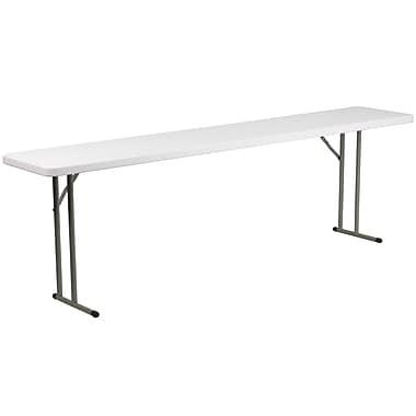 Flash Furniture – Table pliante de 18 x 96 po, plastique blanc (DADYCZ2442GW)