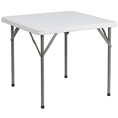 Flash Furniture – Table pliante carrée de 34 po en plastique blanc (DADYCZ86)