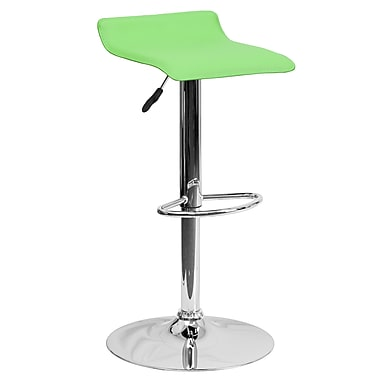 Flash Furniture – Tabouret de bar ajustable de 31,25 po en vinyle vert et à pied chromé, 2/bte (DS801CONTGRN)