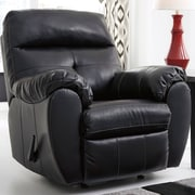 Flash Furniture Benchcraft Bastrop Rocker Recliner in Midnight DuraBlend (FBC4299RECMID)