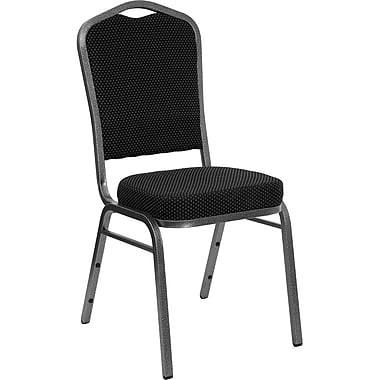 Flash Furniture Hercules Crown Back Stacking Banquet Chair, Patterned Navy Blue, 2.5'' Seat, Gold Frame, (FDC01GVS0810)