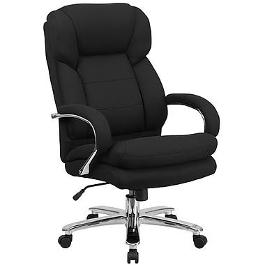 Flash Furniture Hercules GO2078 Black Fabric 24/7 Intensive Use Multi-Shift Big and Tall 500lb Capacity Swivel Chair, Loop Arms