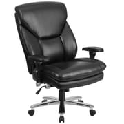 Flash Furniture GO2085LEA  Hercules Leather 24/7 Multi-Shift Big and Tall Executive Swivel Chair, Lumbar Support, Black