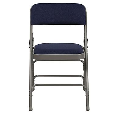 Flash Furniture – Chaise pliante HERCULES en métal à 3 barreaux et à 2 pivots, bleu marine (HAMC309AFNVY)