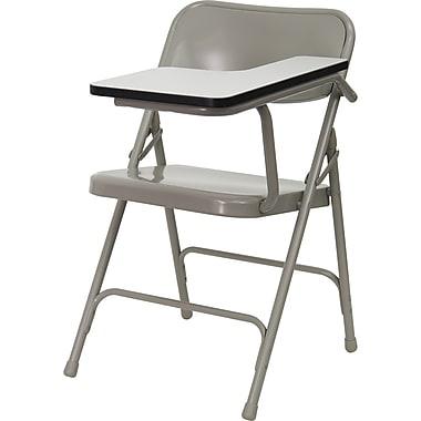 Flash Furniture – Chaise pliante haut de gamme en acier avec tablette rabattable à gauche (HF309ASTLFT)