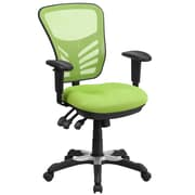Flash Furniture Mid-Back Mesh Swivel Task Chair, Green with Triple Paddle Control (HL0001GN)
