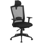 Flash Furniture Mesh High Back Executive Swivel Office Chair in Black with Back Angle Adjustment (HL0004KHR)