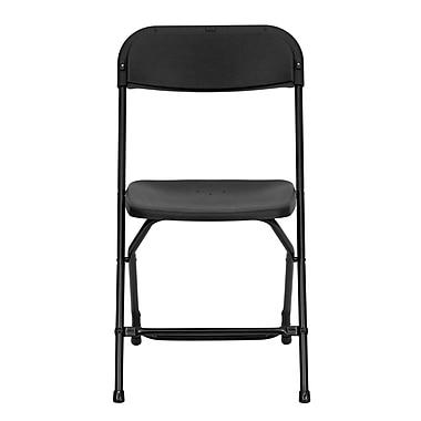Flash Furniture Hercules Series 800lb Capacity Premium Plastic Folding Chair, Black (LEL3BLACK)
