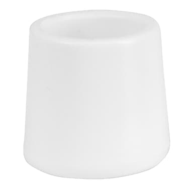 Flash Furniture White Replacement Foot Cap for Plastic Folding Chairs, (LEL3WHCAPS)