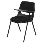 Flash Furniture Padded Ergonomic Shell Chair, Black with Left-Hand Flip-Up Tablet Arm (RUTEO101PADLTAB)