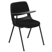 Flash Furniture Padded Ergonomic Shell Chair, Black, Right Side Flip-Up Tablet Arm (RUTEO101PADRTAB)
