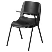 Flash Furniture Ergonomic Shell Chair, Black with Left-Handed Flip-Up Tablet Arm (RUTEO1BKLTAB)