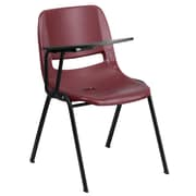Flash Furniture Ergonomic Shell Chair, Right-Hand Flip-Up Tablet Arm, Burgundy (RUTEO1BYRTAB)