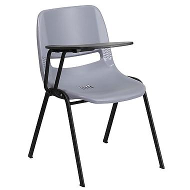 Flash Furniture – Chaise coquille ergonomique avec tablette rabattable à droite, gris (RUTEO1GYRTAB)