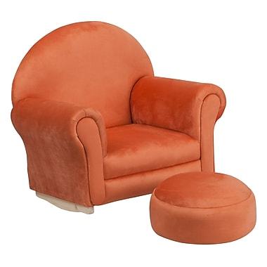 Flash Furniture Kids Microfiber Rocker Chair and Footrest, Orange (SF03OTTOMICOR)