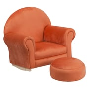 Flash Furniture Kids Microfiber Rocker Chair and Footrest, Orange (SF03OTTOMICOR)
