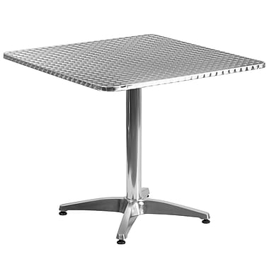 Flash Furniture 31.5'' Square Aluminum Indoor/Outdoor Table with Base (TLH0533)