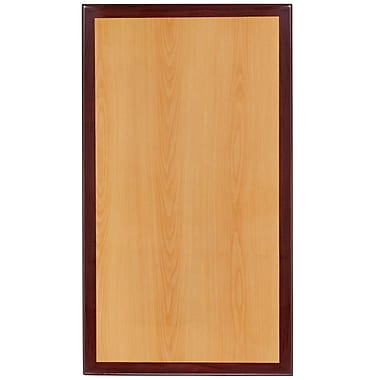 Flash Furniture – Dessus de table en résine de 24 x 30 à deux tons, cerisier et acajou (TP2TONE2430)