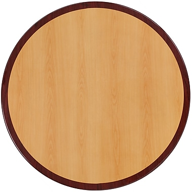 Flash Furniture 30'' Round Resin Table Top, Two-Tone Cherry and Mahogany (TP2TONE30RD)