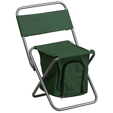 Flash Furniture – Chaise de camping pliante pour enfants avec compartiment isotherme, vert (TY1262GN)