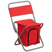 Flash Furniture Kids Folding Camping Chair with Insulated Storage in Red, Silver Powder Coated Frame Finish (TY1262RED)