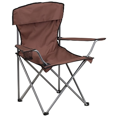 Flash Furniture – Chaise de camping pliante avec porte-gobelet, brun (TY1410BN)