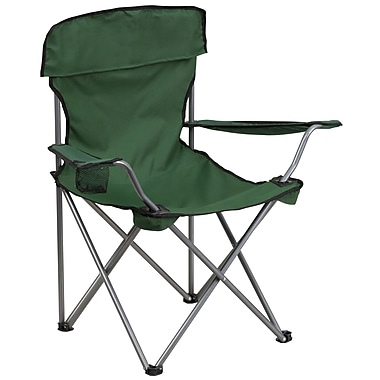 Flash Furniture Folding Camping Chair with Drink Holder, Green (TY1410GN)