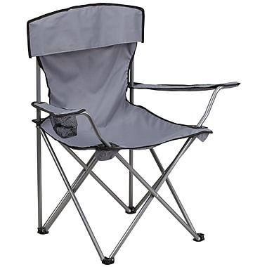 Flash Furniture – Chaise de camping pliante avec porte-gobelet, gris (TY1410GY)